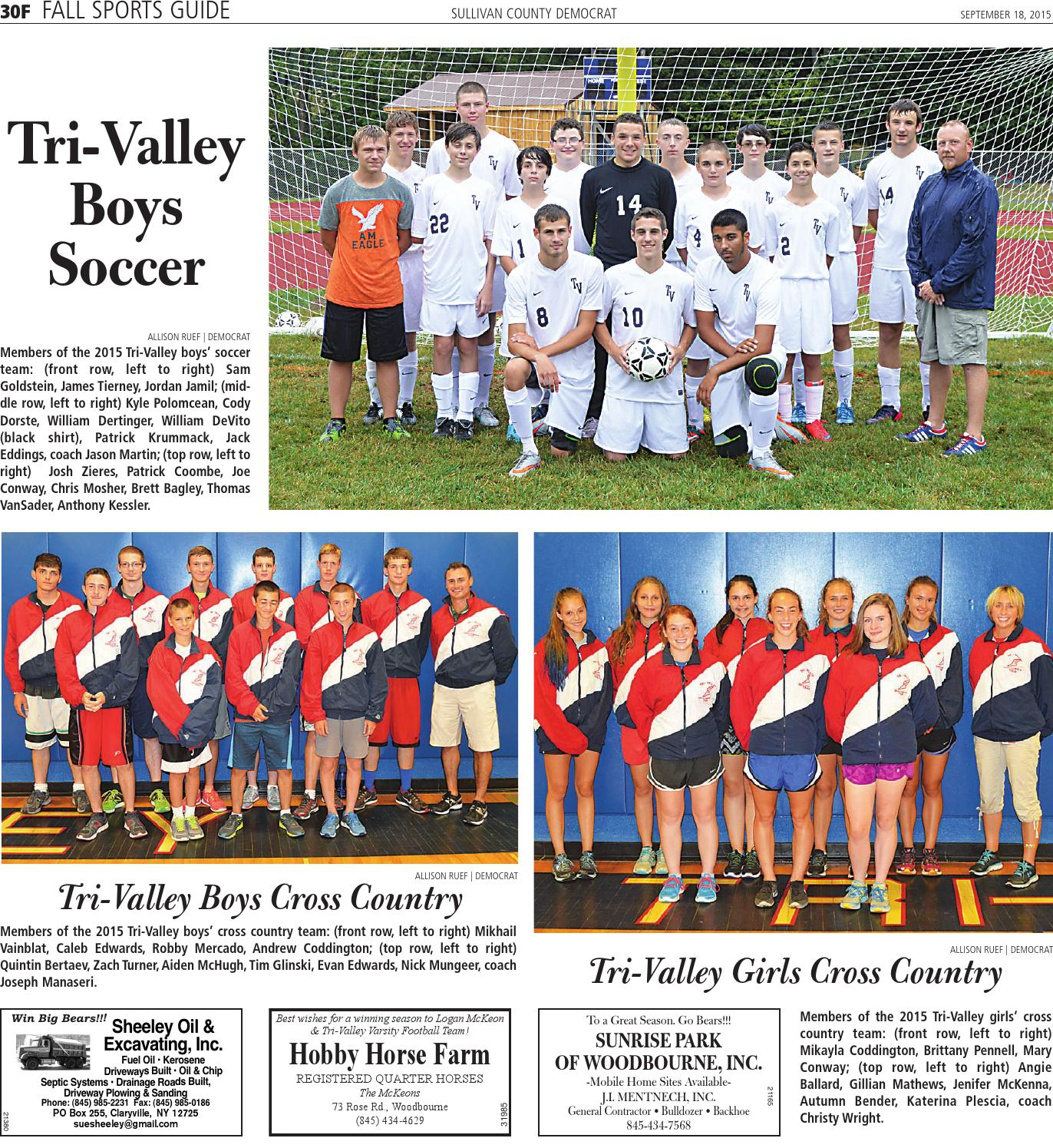 huge selection of 8fe57 af654 Fall Sports Guide 2015 by Sullivan County Democrat/Catskill ...