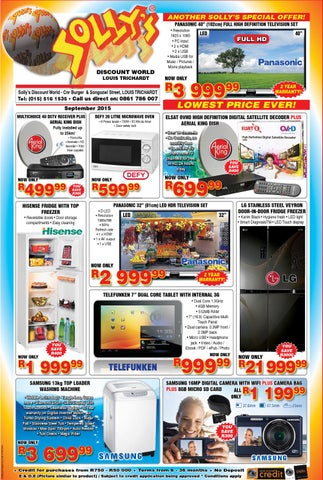 Sollys Catalogue September 2015 by Solly's Discount World