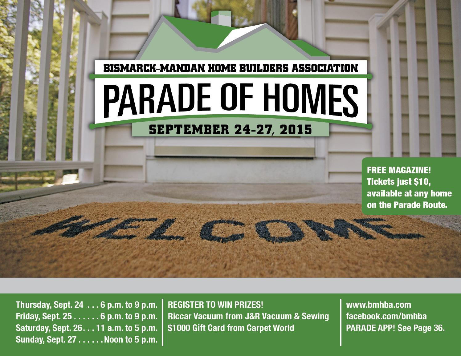 2015 fall parade of homes by bismarck mandan home builders for Home builders magazine