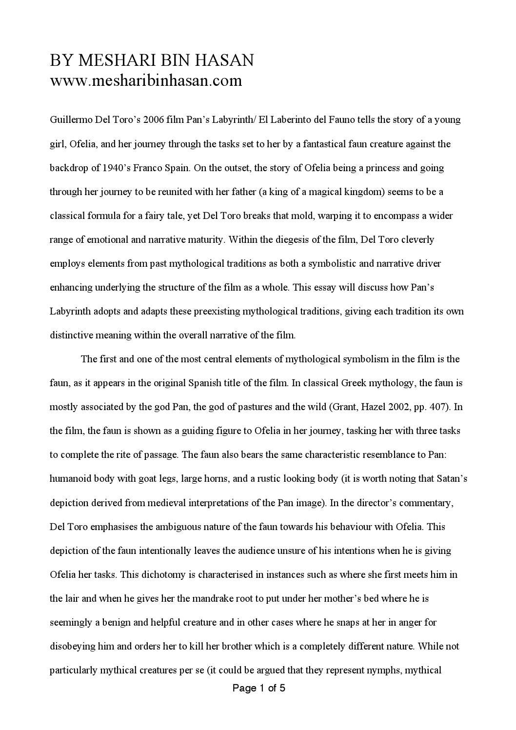Essay Pan S Labyrinth By Sarah Ahmed Issuu