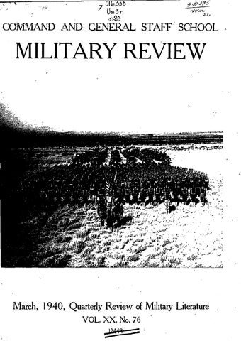 Military Review Quarterly Review Of Military Literature