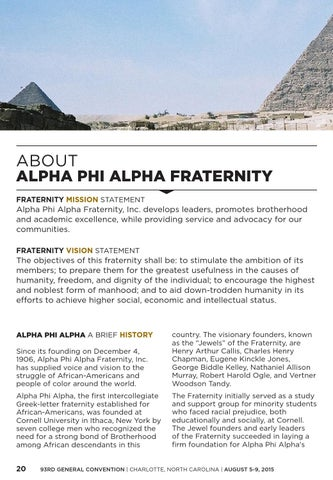 page 22 about alpha phi alpha fraternity fraternity mission statement