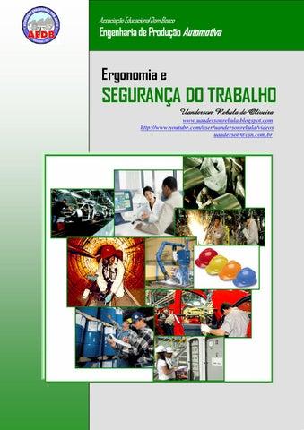 Ergonomia e segurança do trabalho 2013 dom bosco by Uanderson Rebula ... 7f26e9a7df