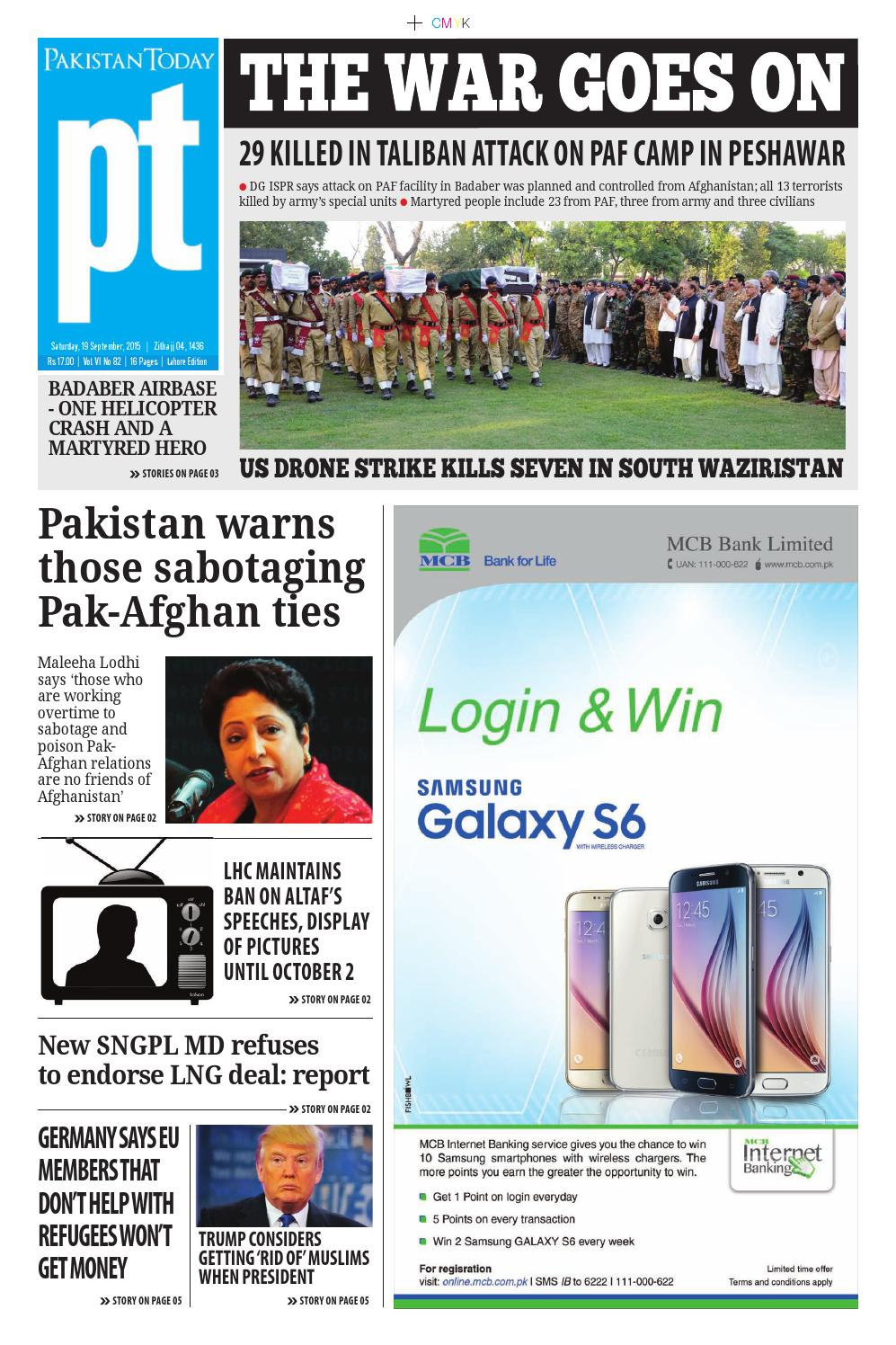 E paper pdf (19 09 2015) (lhr) by Pakistan Today - issuu