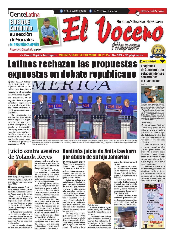 El Vocero Hispano 18 de Septiembre de 2015 by El Vocero Hispano - issuu