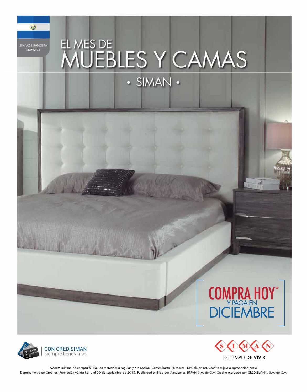Revista camas y muebles by almacenes siman issuu for Almacenes de camas en ibague