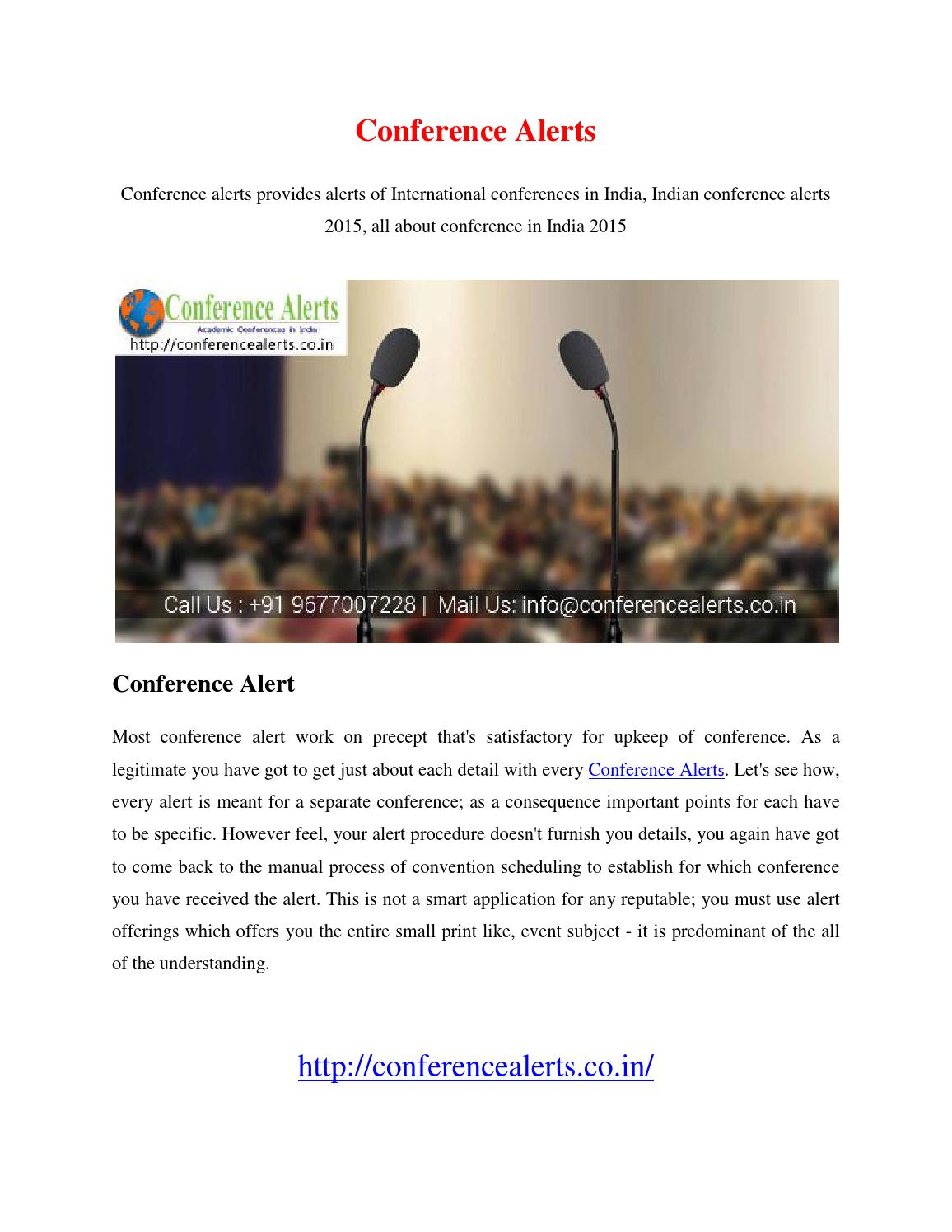 Conference Alerts by subhasri01 - issuu