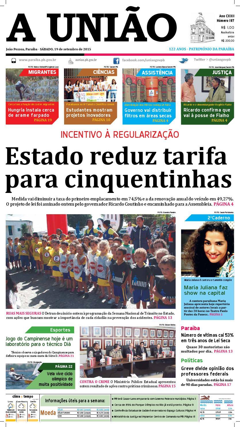 4f4c1b49e4a Jornal A União - 19 09 2015 by Jornal A União - issuu