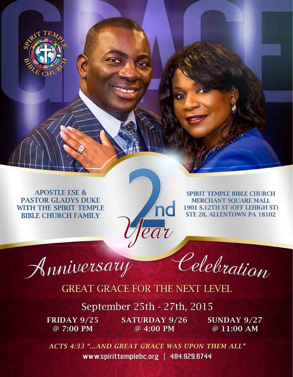 Spirit Temple Bible Church's 2ndyr Anniversary Brochure by ...