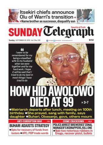 Sunday telegraph sunday, september 20, 2015 vol 2 no 578