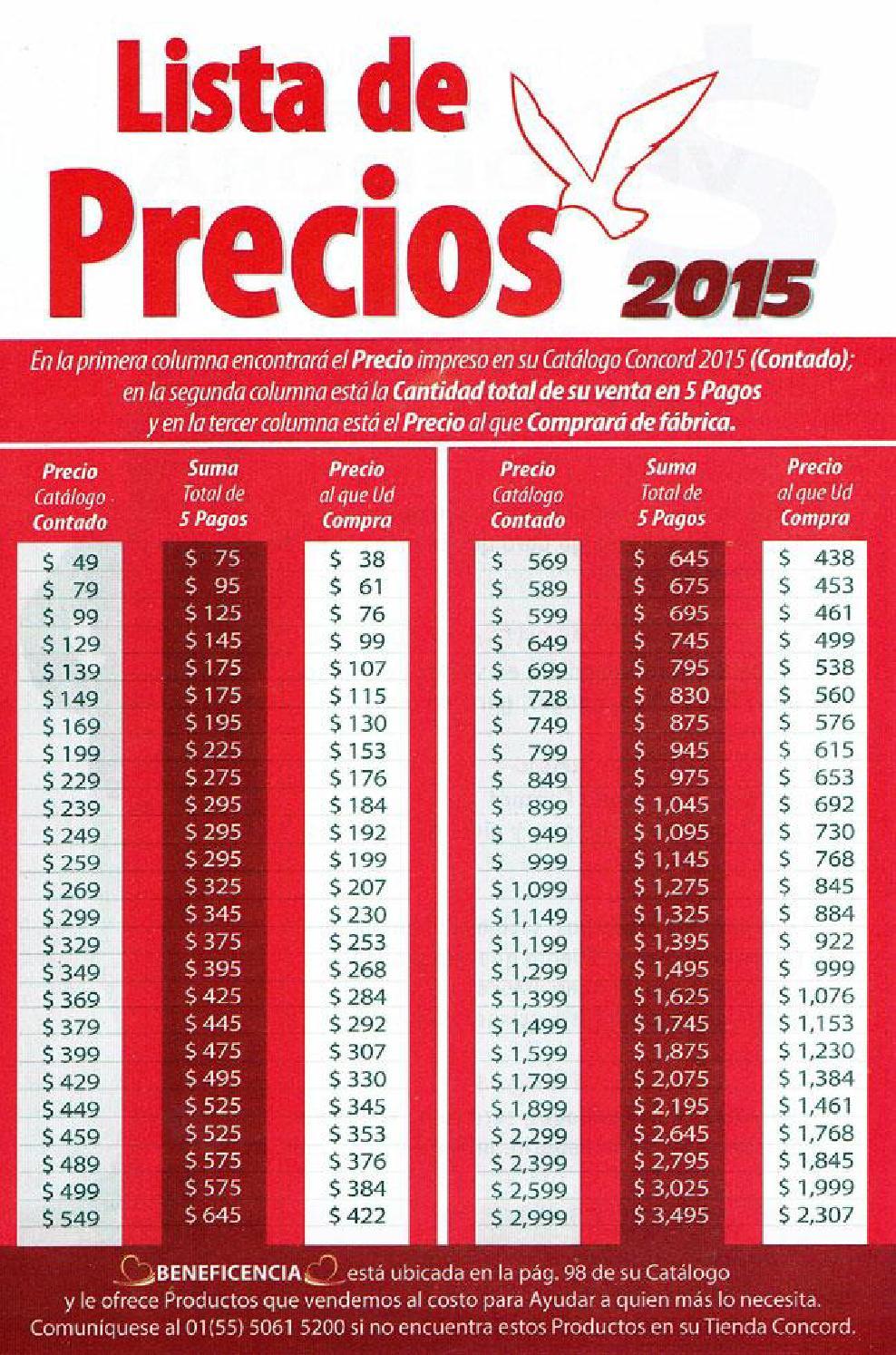 Convertidor De Precios Catalogo Colchas Concord 2015 2016