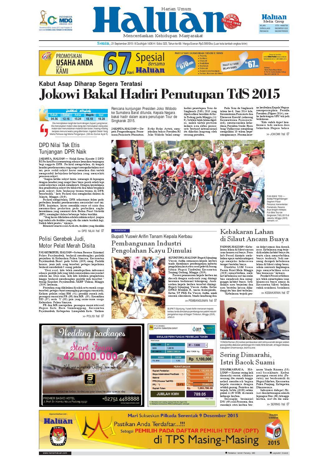 Haluan 21 September 2015 By Harian Issuu Bri Produk Ukm Bumn Kain Doby Motif Bunga
