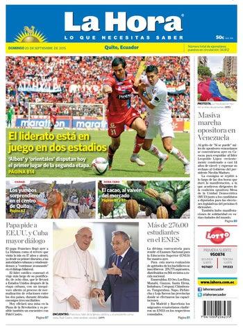 Quito 20 de septiembre 2015 by Diario La Hora Ecuador - issuu 136200f8ef8