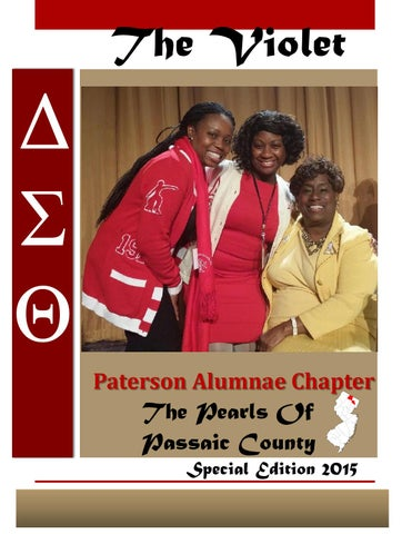 48ab6d58186 The Violet Special Edition 2015. Newsletter for Paterson Alumnae Chapter of Delta  Sigma Theta Sorority ...