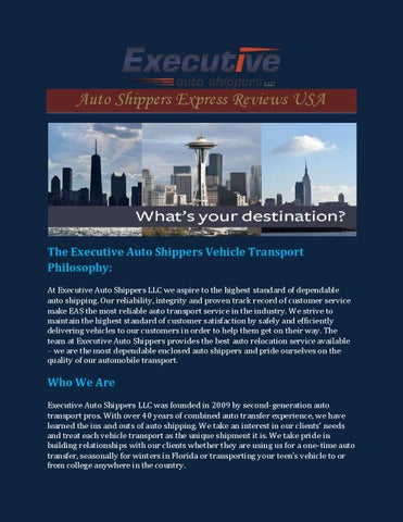 Executive Auto Shippers >> Auto Shippers Express Reviews Usa By Executiveautoshippers Issuu