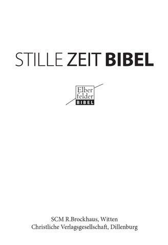 Stille Zeit Bibel Leseprobe By Scm Verlagsgruppe Issuu