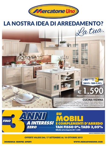Mercatoneuno catalogo 17settembre 18ottobre2015 by issuu - Cucina completa mercatone uno ...