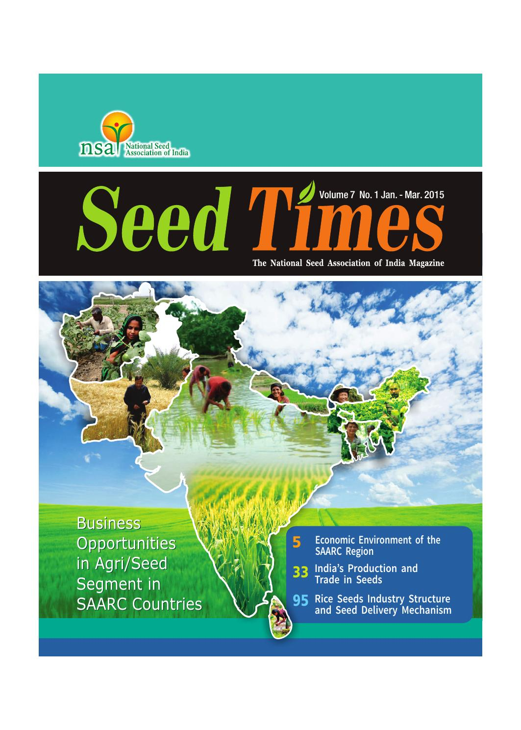 Business Opportunities in Agri/Seed Segment in SAARC