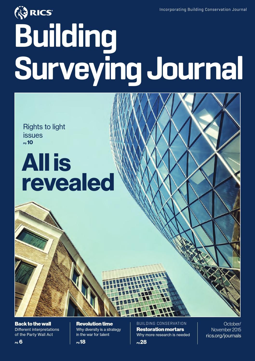 Building Surveying Journal October November 2015 By Rics