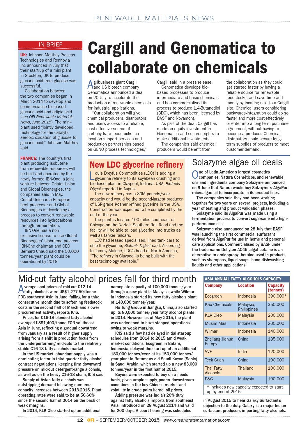 OFI September/October 2015 by Oils & Fats International - issuu