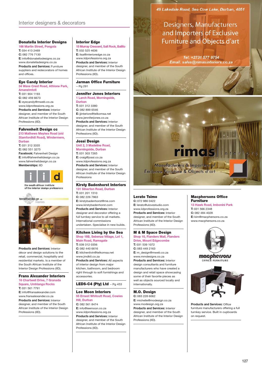 Sa Decor And Design The Buyers Guide 2016 Edition By Sa Decor Design Issuu