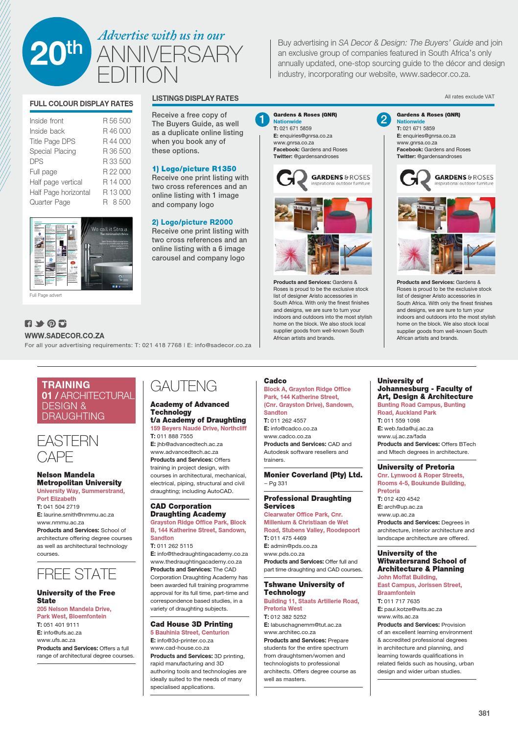 SA Decor and Design - The Buyers Guide 2016 Edition by SA