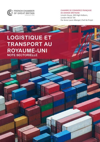 Note sectorielle transport et logistique by french chamber of commerce in great britain issuu - Chambre de commerce francaise de grande bretagne ...