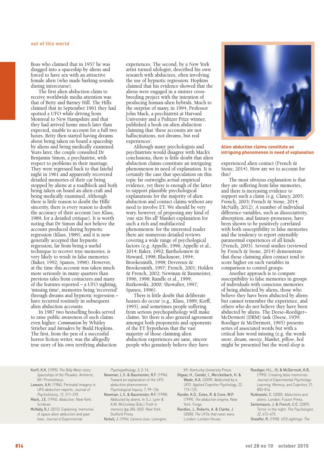The Psychologist October 2015 by The British Psychological