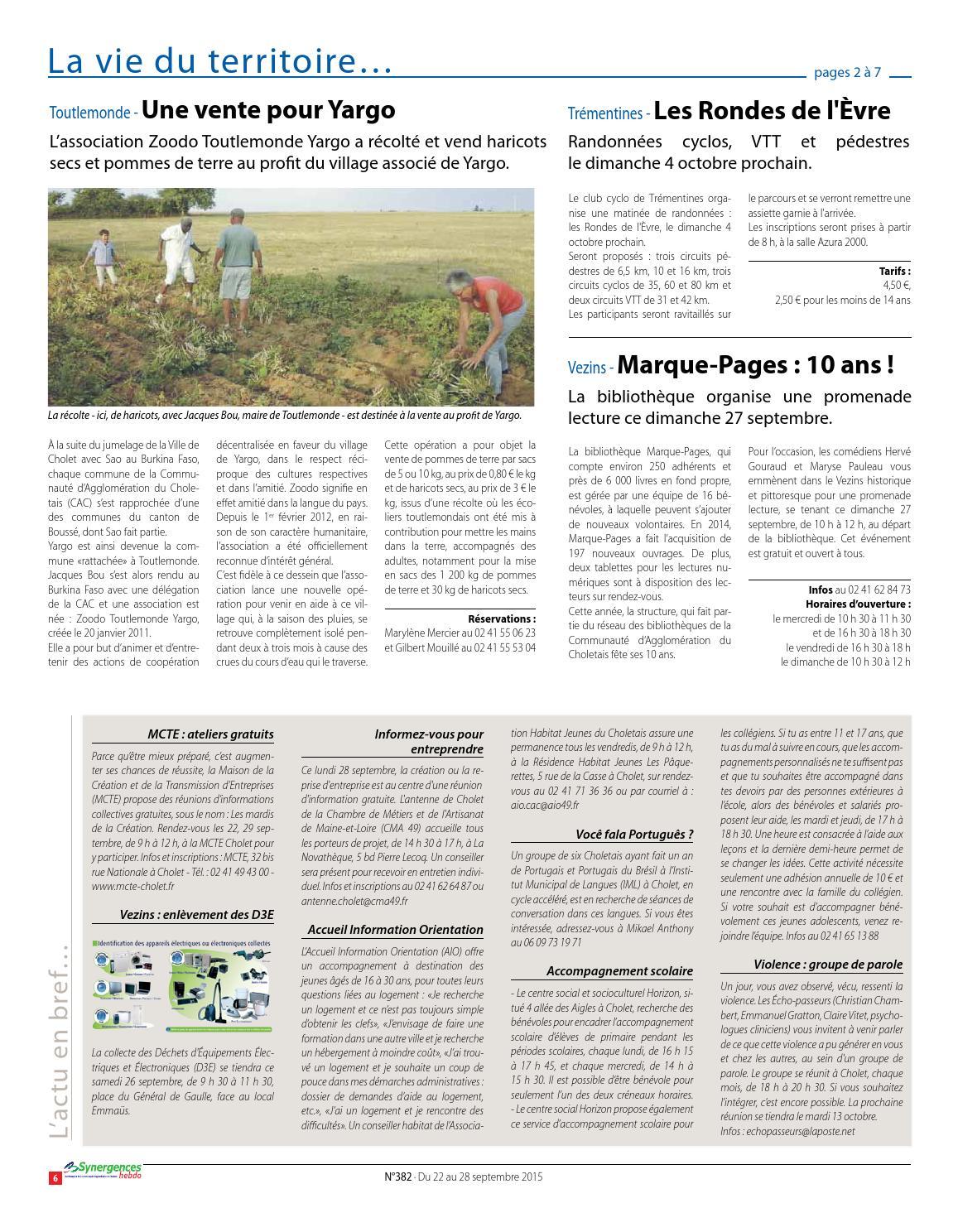 synergences hebdo n°382 by agglomération du choletais - issuu