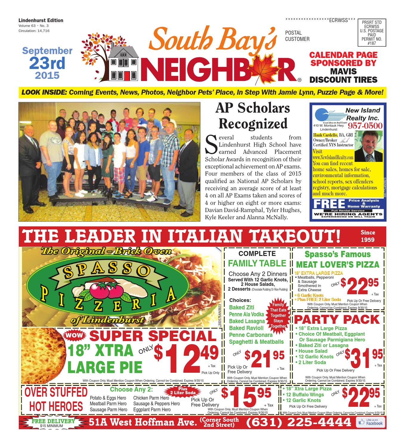 September 23 2015 Lindenhurst by South Bay s Neighbor Newspapers
