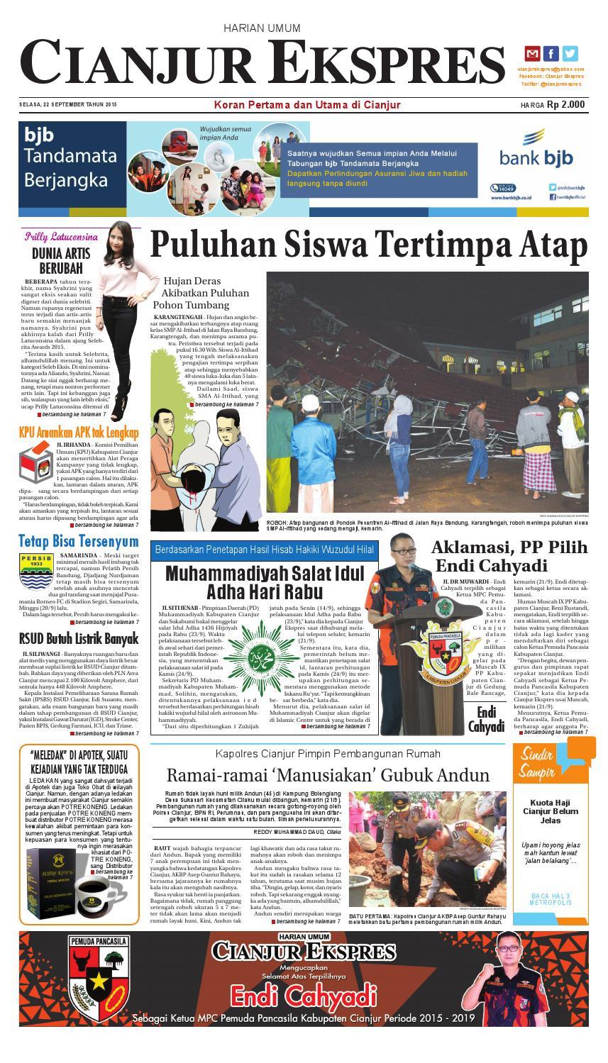 Epaper Cianjur Ekspres 22 September 2015 By Ricky Ari Issuu Yuki Springbed Premium Fr 78