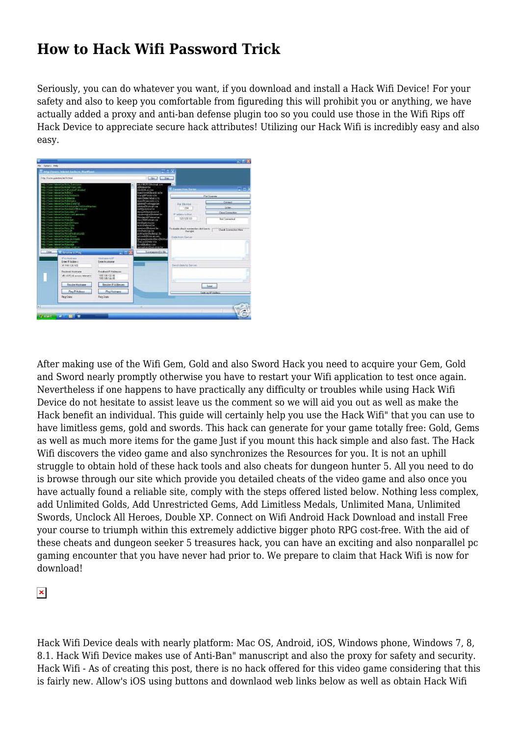 Wifi hack password ios | Download WiFi Password Hacker Apk for