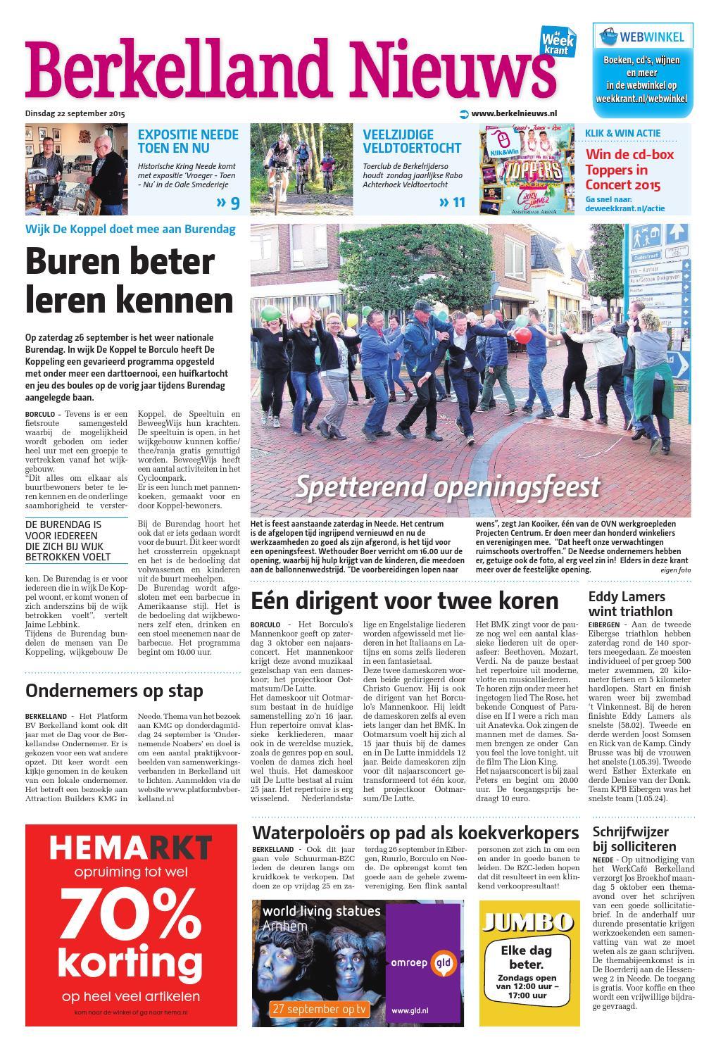 Berkelland Nieuws week39 by Wegener issuu