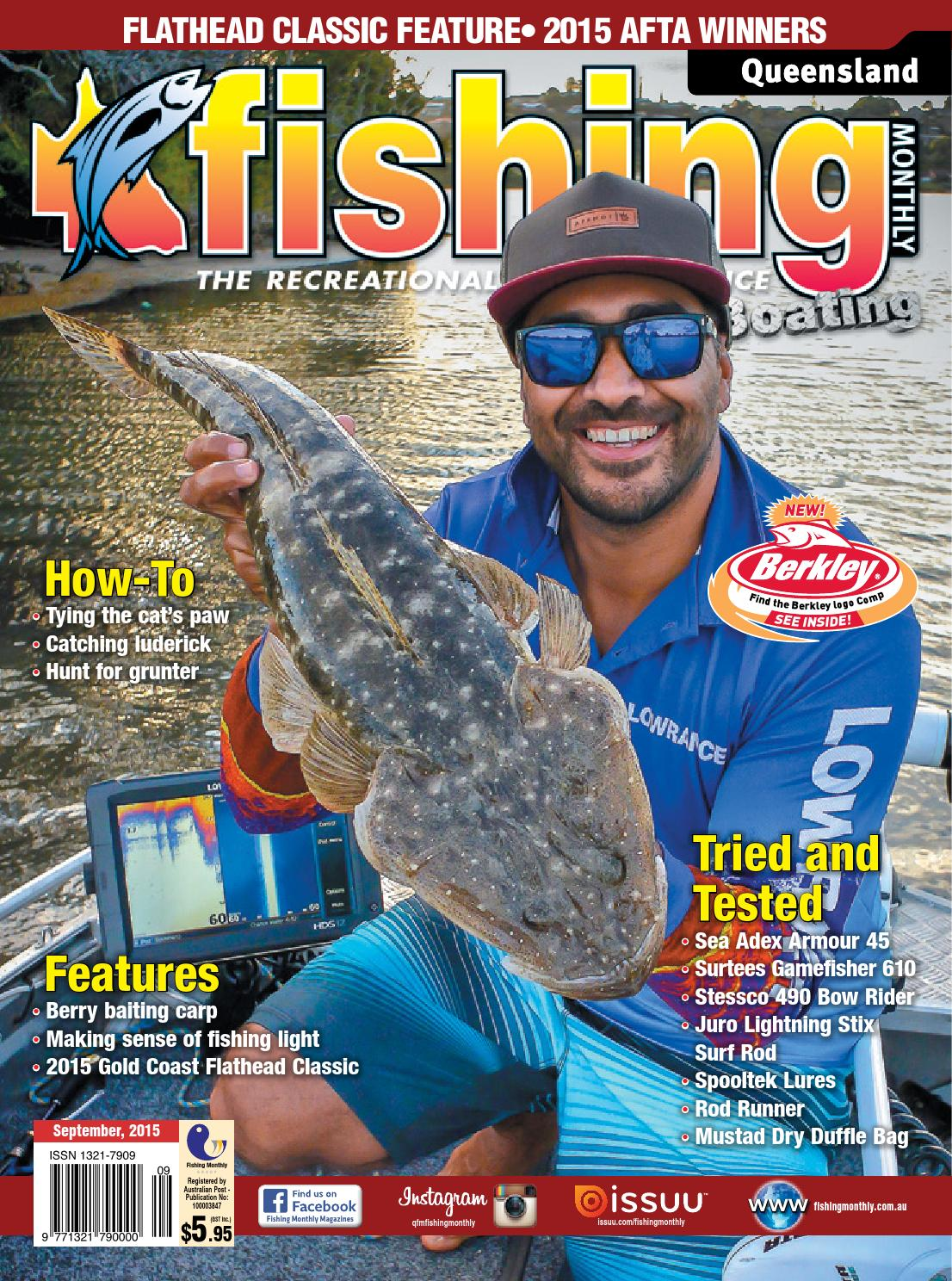 0068c68d21 Queensland Fishing Monthly - September 2015 by Fishing Monthly - issuu
