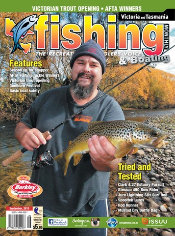 cf13bf7f49 Victoria and Tasmania Fishing Monthly - September 2015 by Fishing ...