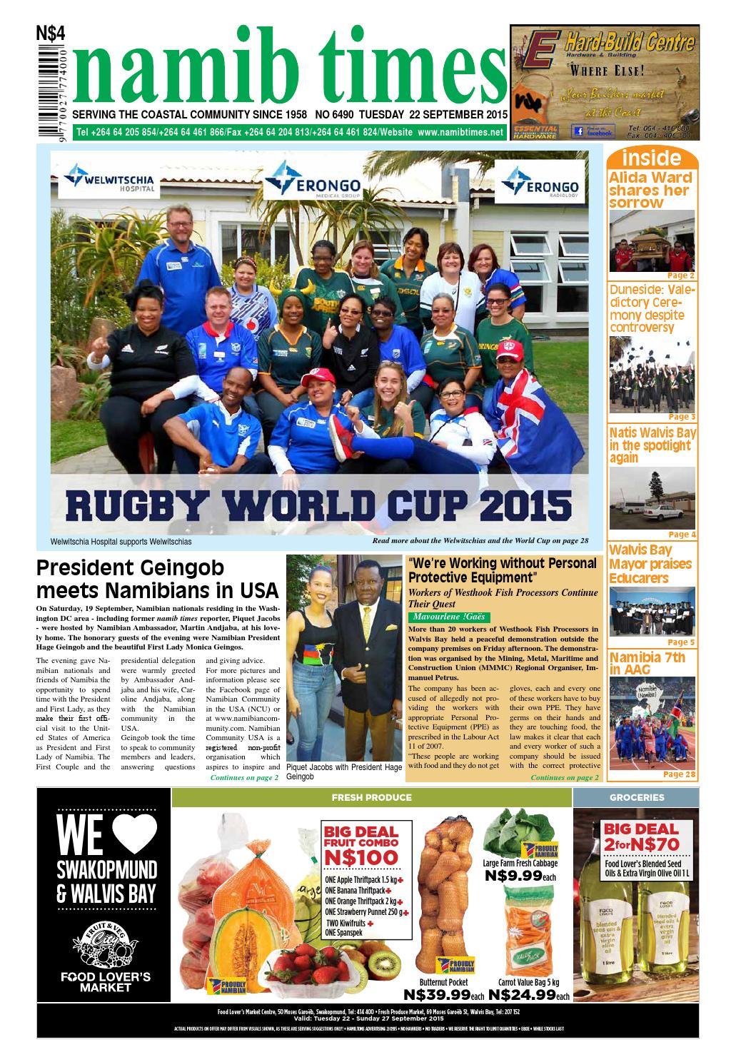 22 september namib times e edition by Namib Times Virtual