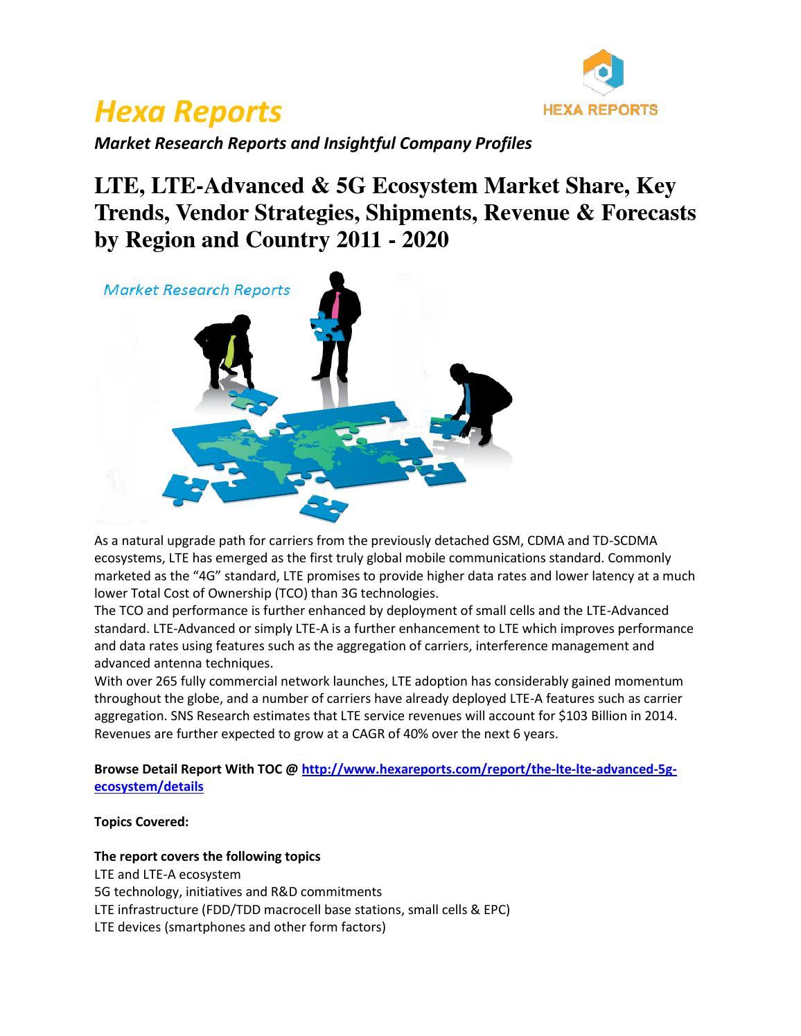 Lte, lte advanced & 5g ecosystem market share, key trends