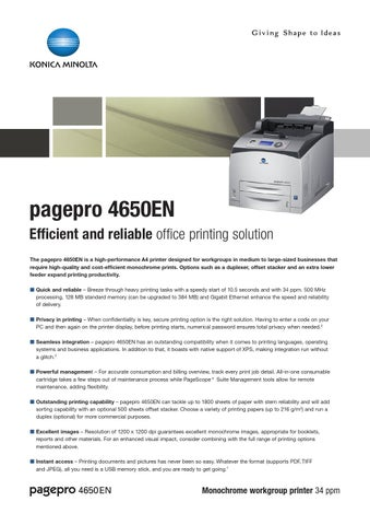 Konica Minolta PagePro 4650EN Printer PS-PPD 64 BIT Driver