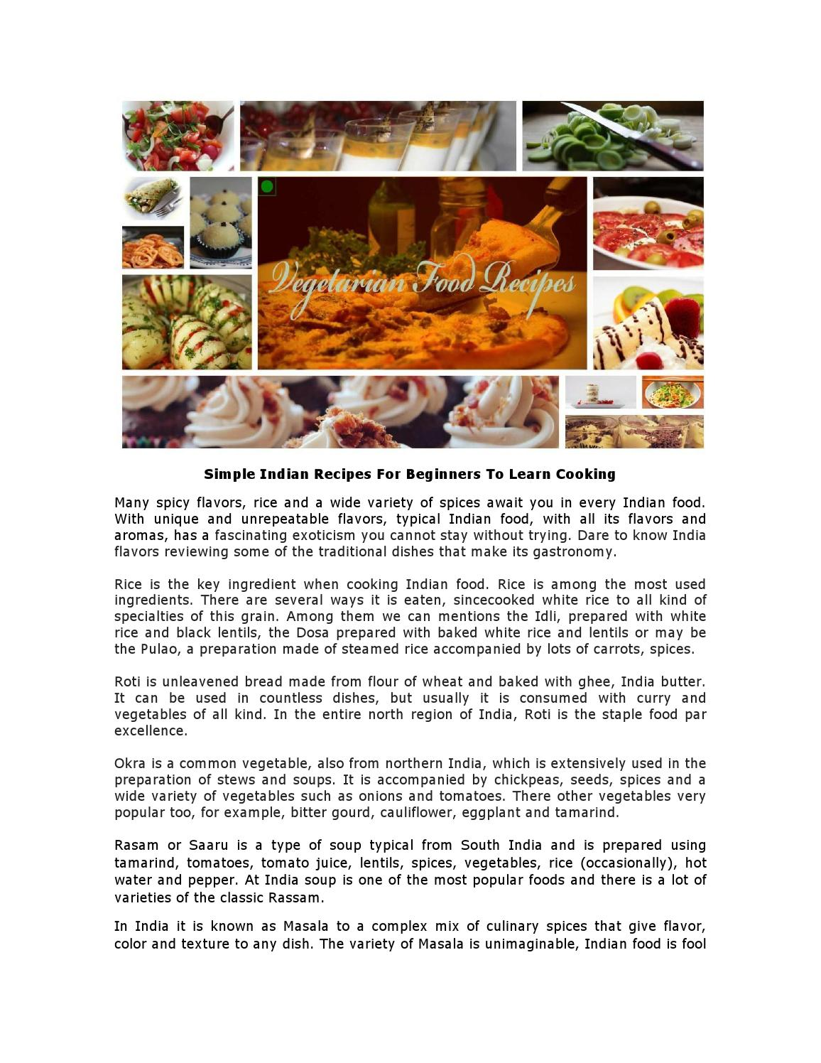 Simple indian recipes for beginners to learn cooking by a to z food simple indian recipes for beginners to learn cooking by a to z food recipes issuu forumfinder Image collections