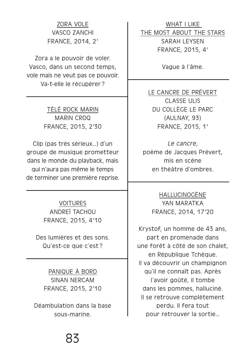 Catalogue Du 17ème Festival Des Cinémas Différents Et