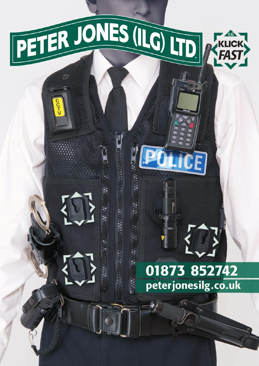 Ex Police Leather Three Position Speedcuff Holder With Press Stud Fastening