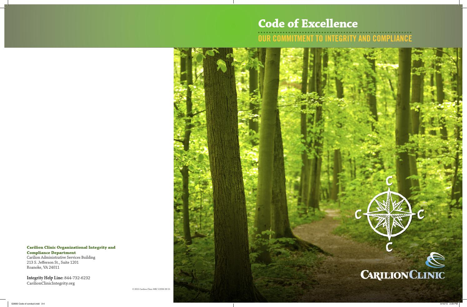 Carilion Clinic Code Of Conduct By Carilion Clinic Issuu