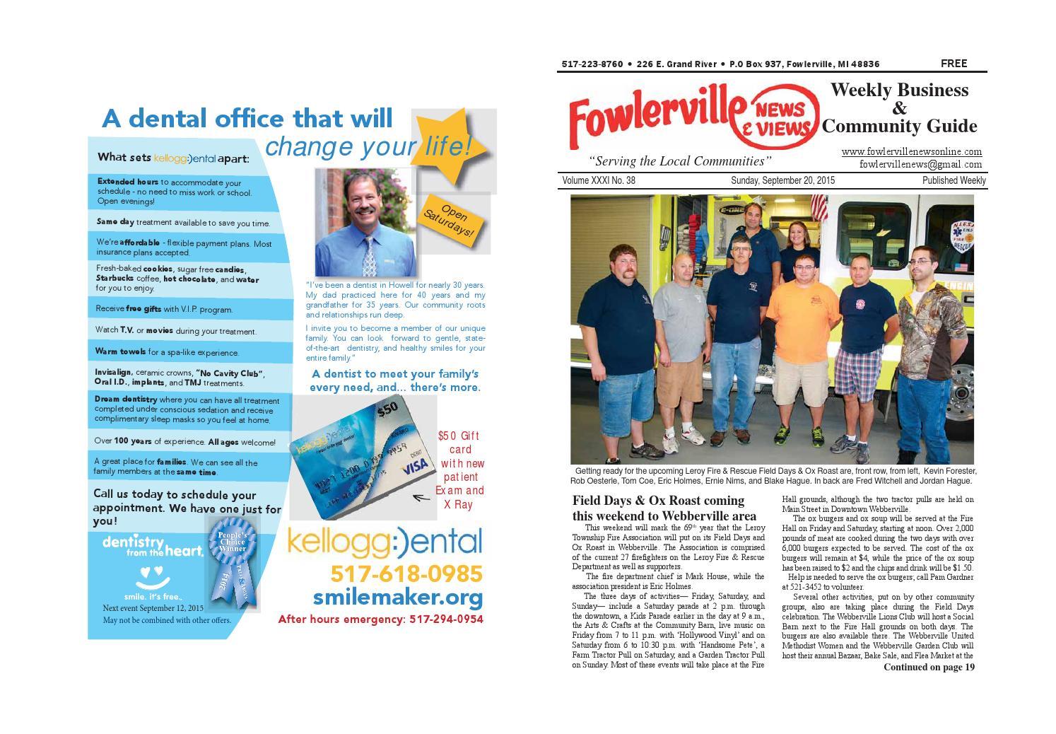 Fowlerville News u0026 Views Online September 20