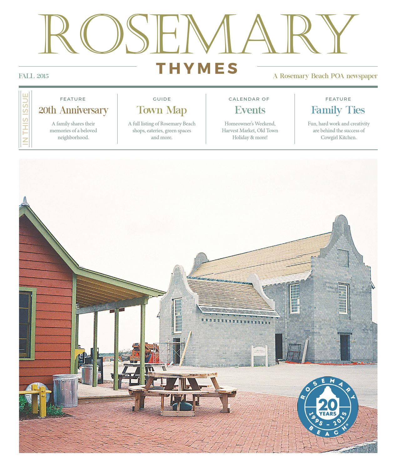 Rosemary Thymes Fall 2015 by Rosemary Thymes - issuu