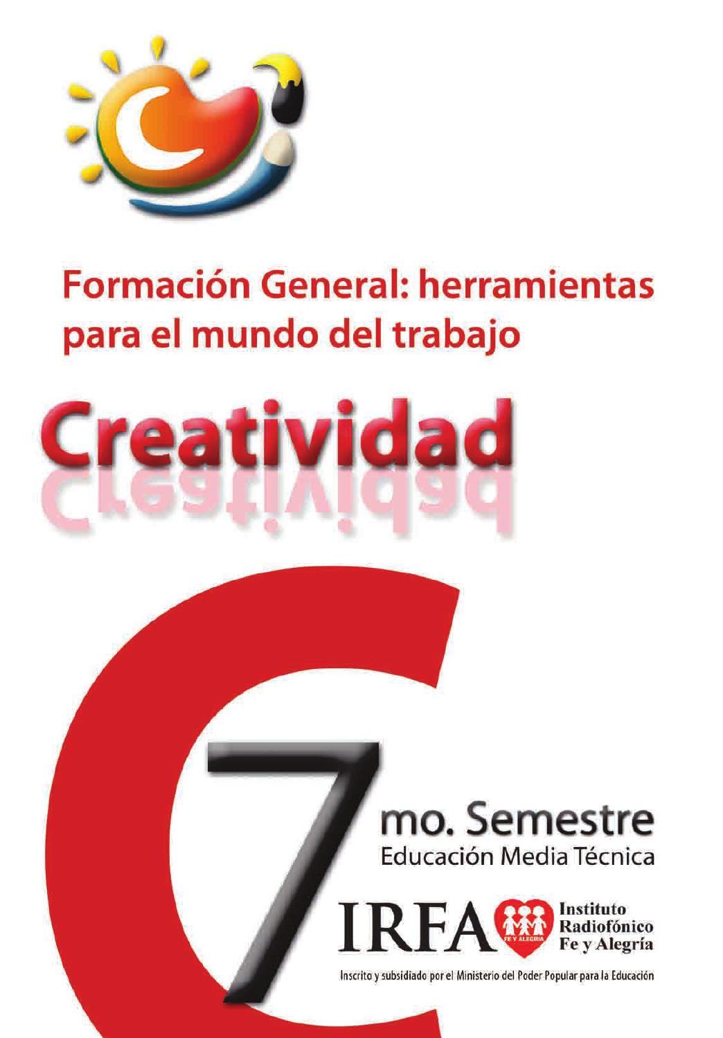 creatividad 7mo by cordnaceduirfa issuu