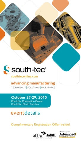 SOUT-TEC 2015 Event Details Brochure by SME - issuu
