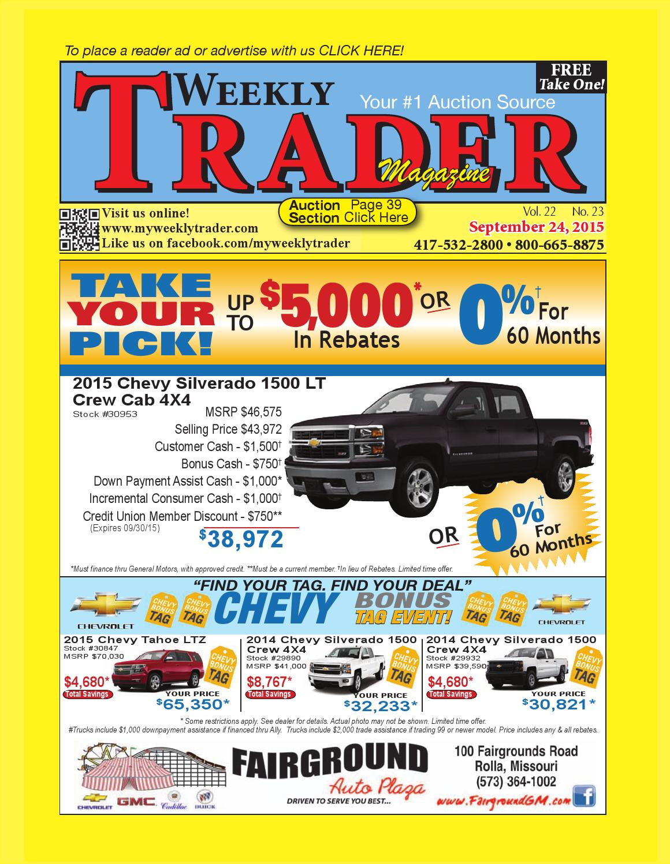 Weekly Trader September 24, 2015 By Weekly Trader   Issuu