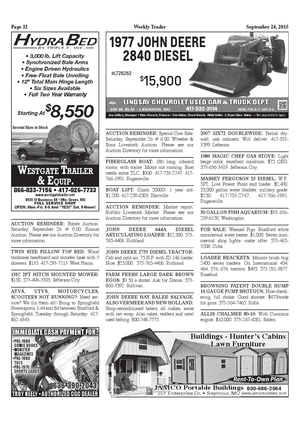 Weekly Trader September 24, 2015 by Weekly Trader - issuu
