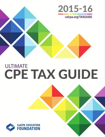 Calcpa education foundation 15 16 ultimate cpe tax guide by calcpa 2015 16 calcpataxguide ultimate cpe tax guide fandeluxe Images