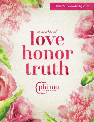 2014-15 Phi Mu Foundation Annual Report